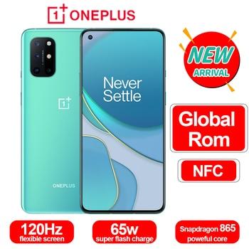 100% Original Oneplus 8 T 8 T SmartPhone 120Hz líquido AMOLED pantalla Snapdragon 865 65W Warp a uno de 8 T teléfono móvil