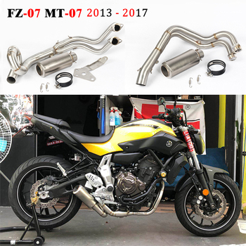 MT07 FZ07 Motorcycle Exhaust Escape Full System MT 07 For Yamaha FZ-07 MT-07 2013 - 2017 Modified Front Middle Link Pipe Muffler motorcycle exhaust modified scooter clamp on motorbike mid pipe slip on muffler exhaust mid pipe for yamaha mt 07 mt07 mt 07