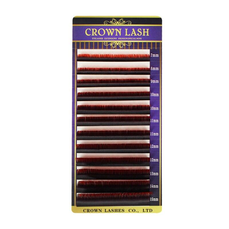 d 007 7 15mm cor dupla vermelho ombre lash vermelho 05