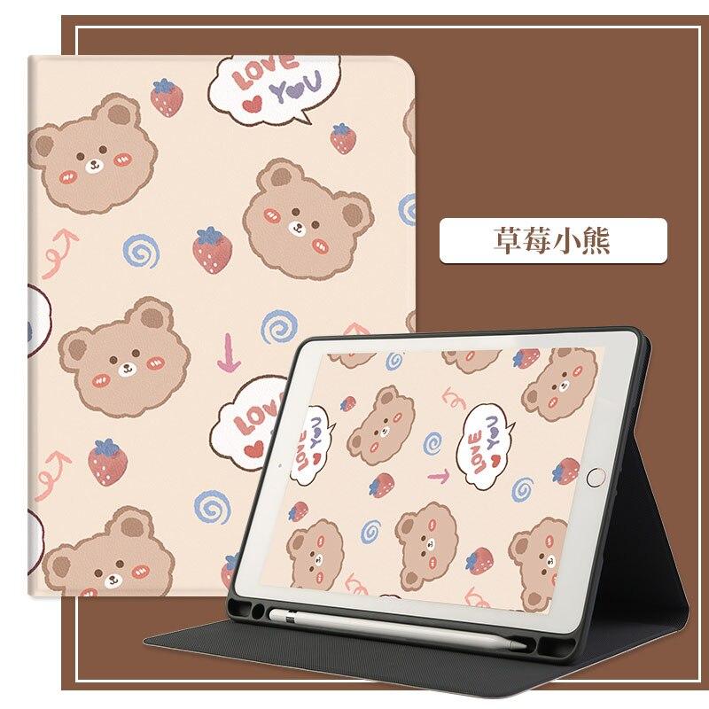 Custodia simpatico cartone animato per iPad Pro 11 10.5 2020 custodia 2018 per iPad Air 4 custodia Air 10.9 10.2 pelle Funda con fessura per penna Smart Cover