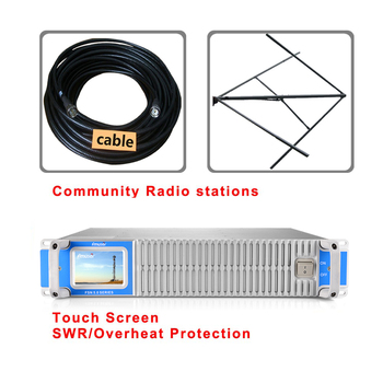 FMUSER FMT5.0 300W 350W FM transmitter fm broadcast circularly polarlized antenna and 20meters cable kit фото