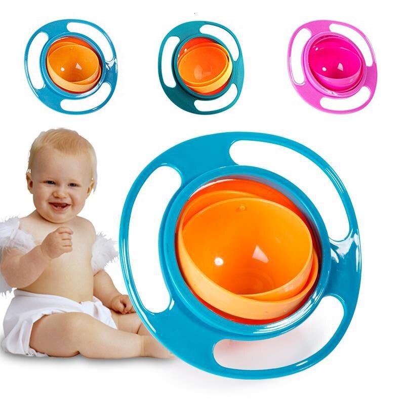 Gyro Umbrella Bowl Baby Balance Bowl Solid Feeding Silica Gel Spillproofbowl Bowlsplate Babybowl Convenient Babyfeeding