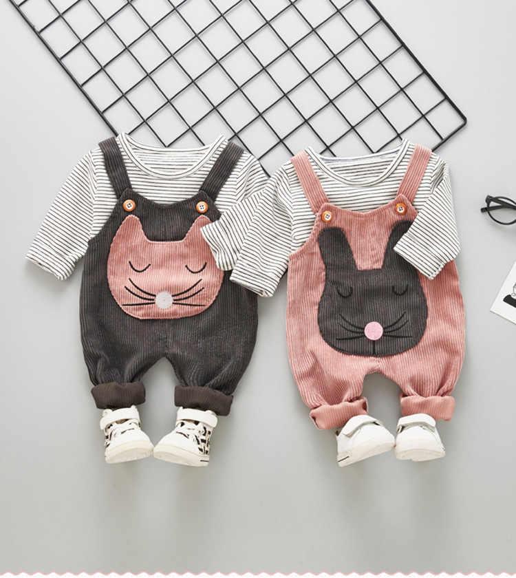 Bé gái Bộ quần áo mùa xuân, mùa thu cotton sơ sinh thời trang áo + yếm tay và quần tracksuits cho Bebe bé trai trẻ sơ sinh bộ đồ thể thao