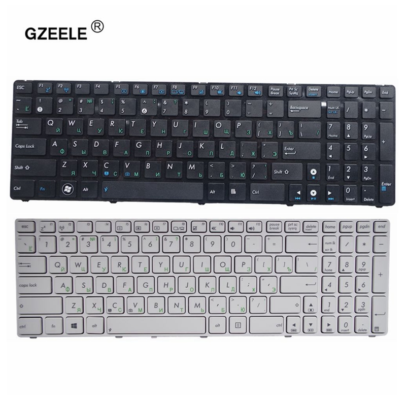 GZEELE Russian Laptop Keyboard FOR ASUS G72 X53 X54H K53 A53 A52J K52N G51V N61 N50 N51 N60 U50 K55D G60 F50S U53 RU Layout New