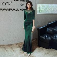 Evening Dresses Luxury Robe De Soiree Long Mermaid Evening Dress Long Formal Dress Elegant Mid Sleeve Cocktail Vestido Clubwear(China)