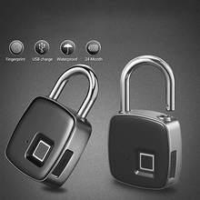 Acero inoxidable duro Anti-martillo antirrobo Bloqueo de huellas dactilares Bluetooth contraseña candado App control remoto desbloqueo