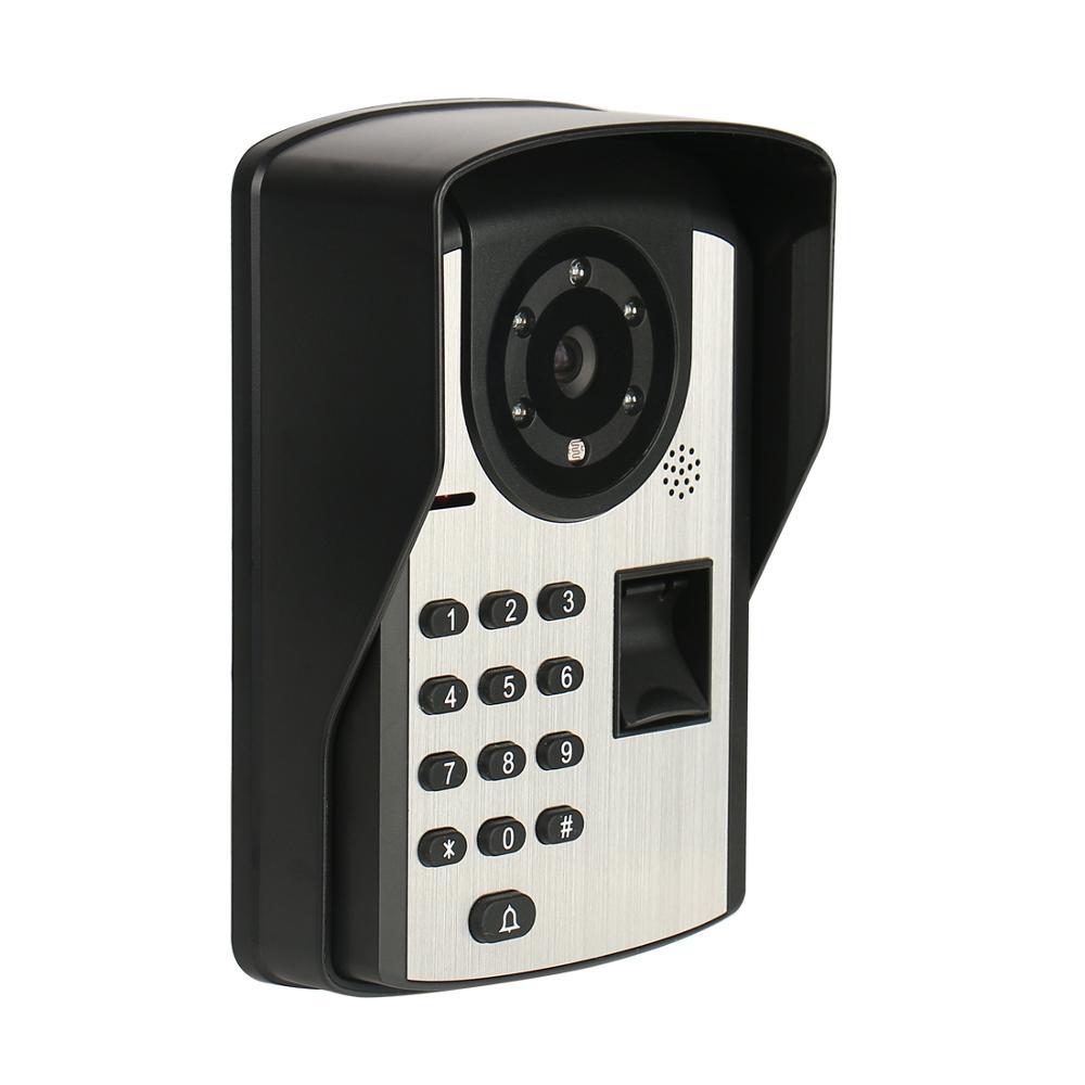 Купить с кэшбэком APP Control Fingerprint Password Unlock Video Intercom 7 Inch LCD Wifi Wireless Video Door Phone Doorbell Visual Intercom System