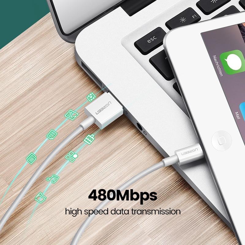 Καλώδιο USB Uv Green MFi για iPhone 11 X Xs Max 2.4A - Ανταλλακτικά και αξεσουάρ κινητών τηλεφώνων - Φωτογραφία 4
