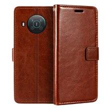 Nokia X10 cüzdan Premium PU deri manyetik Flip Case kapak kart sahibi ve Kickstand Nokia X20