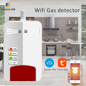 Wifi Gas Sensor Alarm Natural CH4 Leak Combustible Gas Detector Smart Life Home Kitchen Security App control Tuya sensor