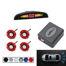 Новые оригинальные автомобильные датчики Регулируемая глубина 16,5 мм светодиодный дисплей Автомобильный парковочный датчик резервный радар зуммер система для заднего переднего удара