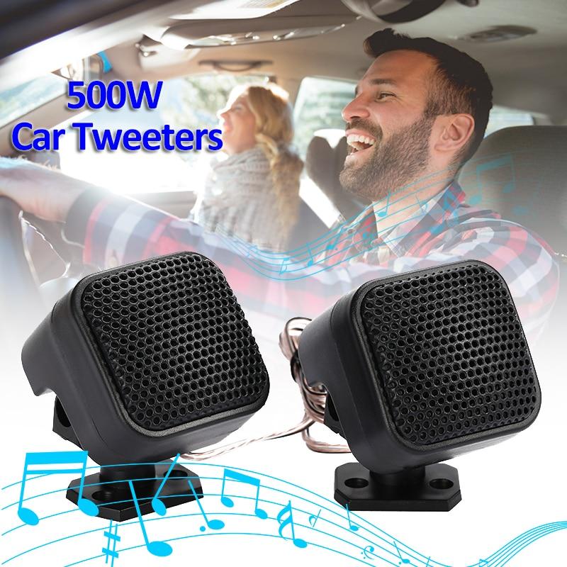 90 Degree Adjustable Stand 12V 500W Car Tweeters Audio Speaker Loudspeaker CD MP3 Super Power Universal Auto Speakers For IPod