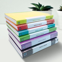 1PC A4 Display Book 20/40/60/80 Page Transparent Insert Folder Document Storage Bag for Bank Campus File Office Workplace Family