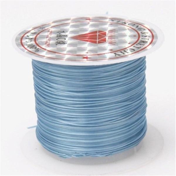 393 дюйма/рулон, крепкий эластичный шнур для бисероплетения с кристаллами, 1 мм, для браслетов, стрейчевая нить, ожерелье, сделай сам, для изготовления ювелирных изделий, шнуры, линия - Цвет: Color 7