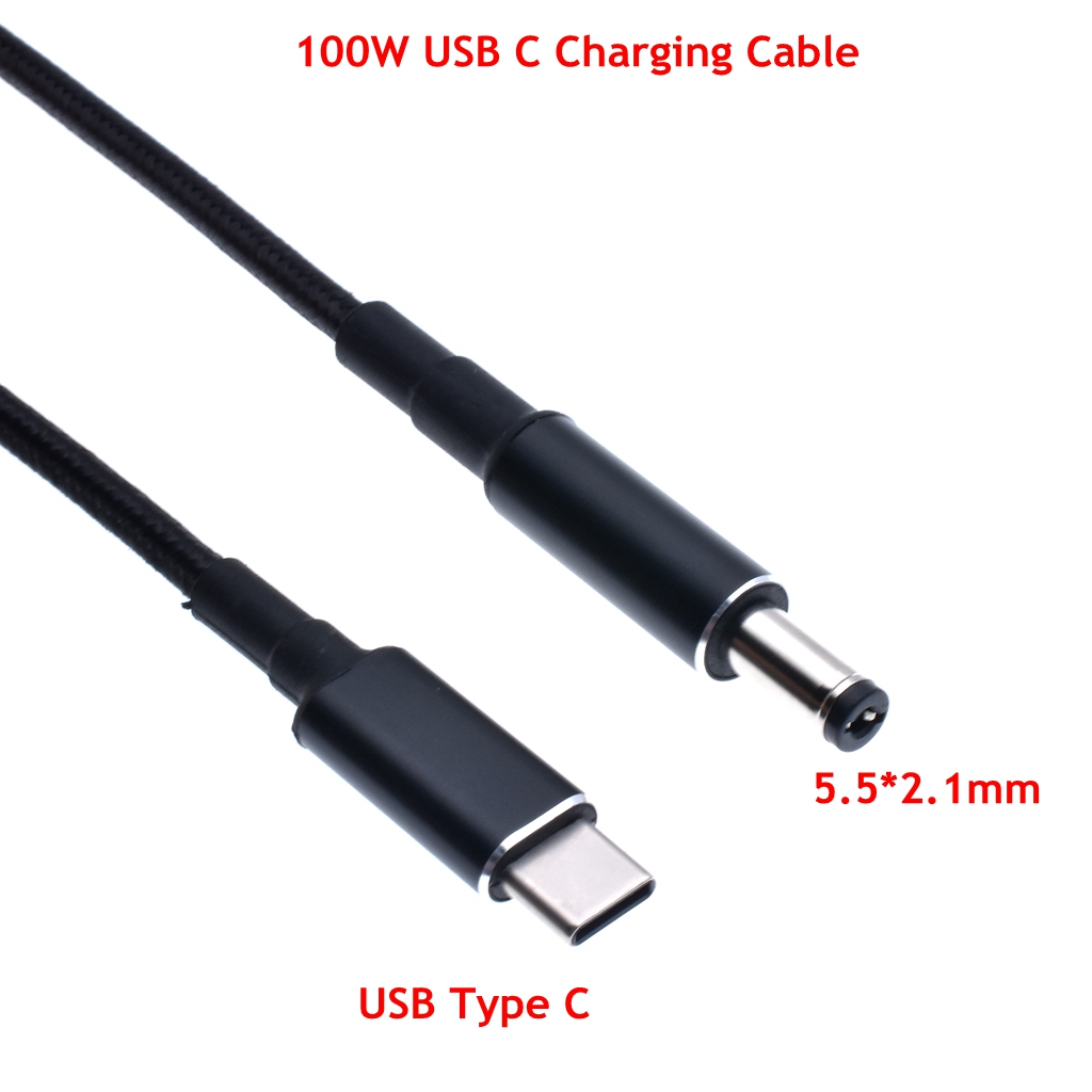 1.8m USB 3.1 Type C to DC 5.5*2.1MM PD Emulator Trigger Charge Cable ,USB-C to 5521 100W cable 5A(China)