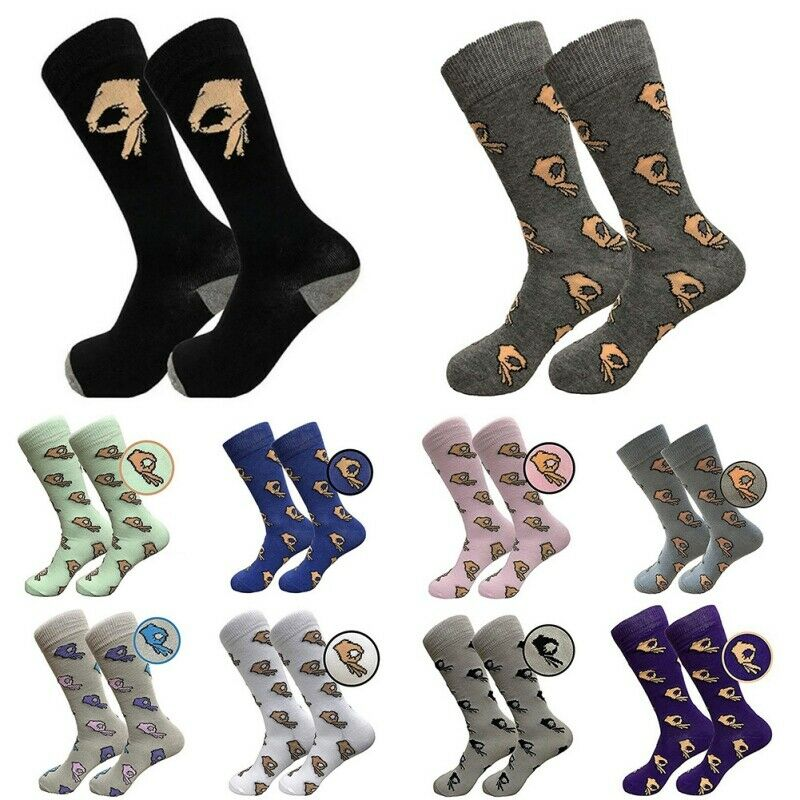 Socks Crazy Stocking Dress Casual Funny Cotton Crew Game Meme Circle