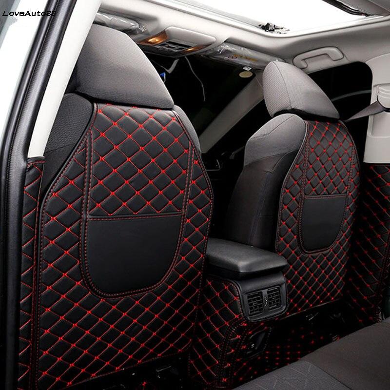 Car All Inclusive Rear Seat Anti-Kick Pad Rear Backrest Seats Cover B Pillar Protective Mat For Toyota RAV4 RAV-4 2019 2020