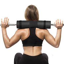 40x10cm Barbell Pad Squat Pads with Safety Straps Support Sponge Cushion for Women Men Squats, Lunges Fits Olympic Bars