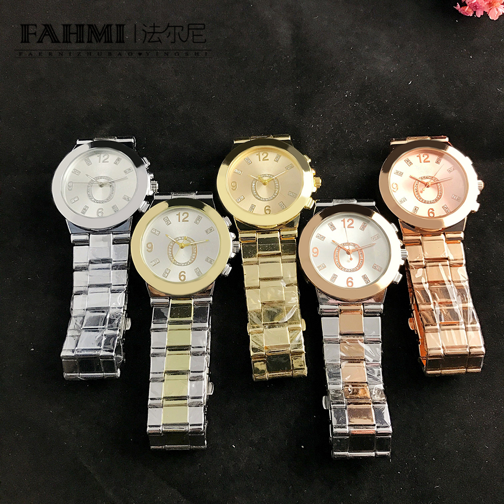 FAHMI Alloy Fashion Business Exquisite Men And Women Couple Quartz Watch Rose Gold High Quality Original Jewelry Fashion Gift