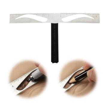 1pc Eyebrow Ruler Stainless Steel Eyebrow Stencil Microblading Permanent Makeup Measure Template Tool