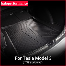 Estera de maletero de coche para Tesla modelo 3, accesorios de revestimiento de carga frontal, impermeable e inodoro