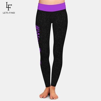 LETSFIND 2020 New High Quaility 3D # Wax Boss Print Women High Waist Legging Fashion Plus Size Fitness Elastic Leggings 1