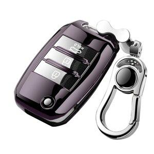 Image 4 - Protezione della copertura della chiave dellautomobile pieghevole in TPU per KIA Sid Rio Soul Sportage Ceed Sorento CeratoK2 K3 K4 K5 custodia remota proteggi portachiavi