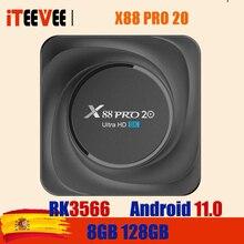 X88 PRO 20 TV Box Android 11 8GB RAM 128GB ROM Rockchip RK3566 8K Android 11,0 Media Player Google Youtube 1000M 4GB32GB stock
