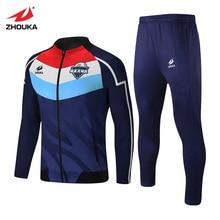 Custom Men Sport Tracksuit Soccer Uniform For Suits Sportswear Full Sleeve Zipper Casual Jogging Gyms Sweat