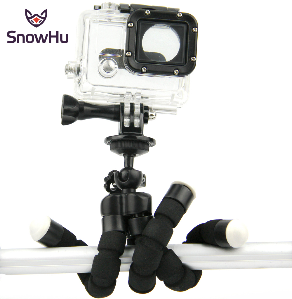 Mini Portable Flexible Sponge Octopus Tripod Bracket Stand Mount Monopod + Phone Holder For Gopro Camera DSLR Mount LD06