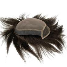 جديد وصل الرجال الدنتلة أحادية الدانتيل في أعلى و الجبهة الرجال باروكة من الشعر الطبيعي ابيض عقدة شحن مجاني