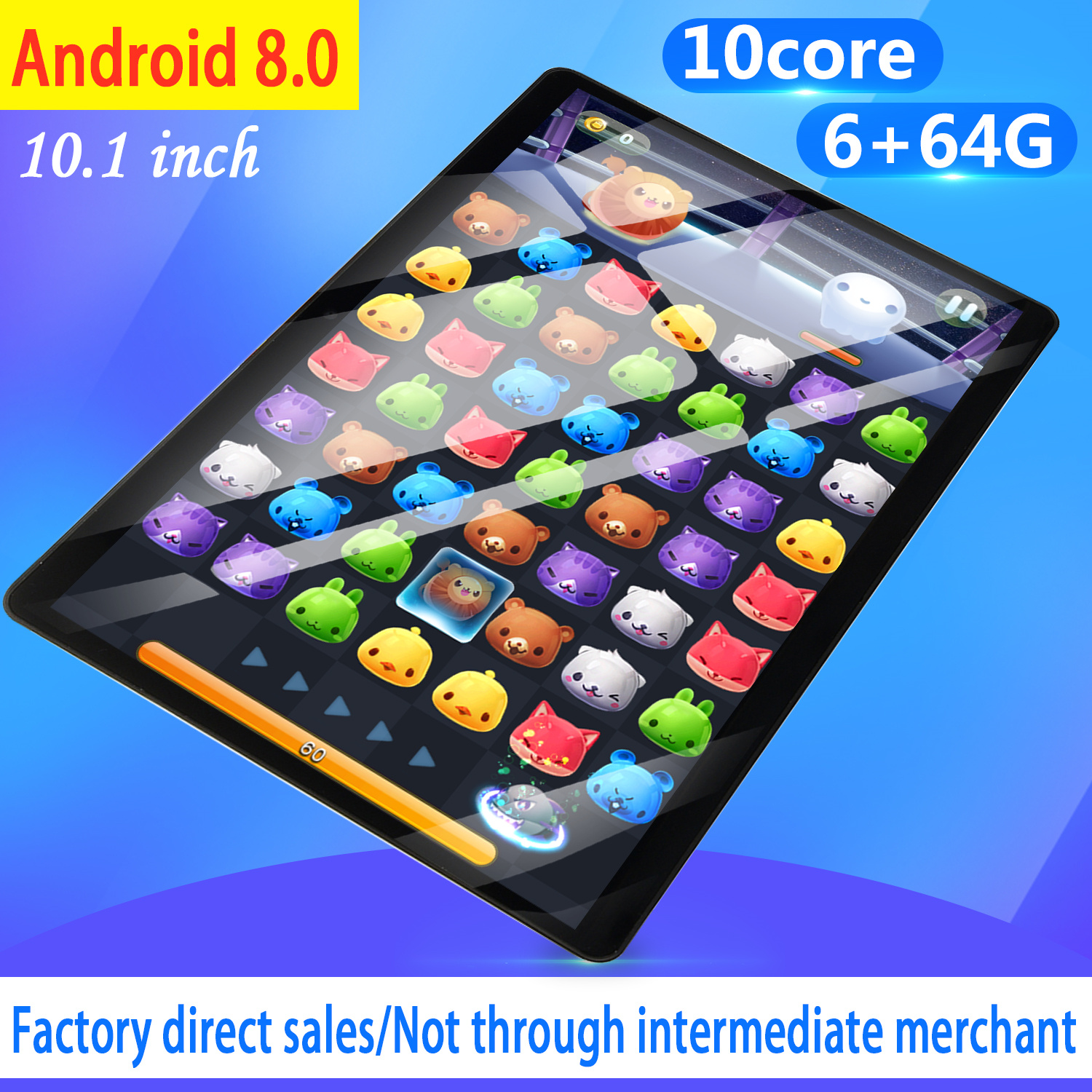 2020 10.1 Inch 4G LTE Tablet MT8752 Octa Core 6GB RAM 64GB ROM Dual SIM 5.0MP GPS Android 8.0