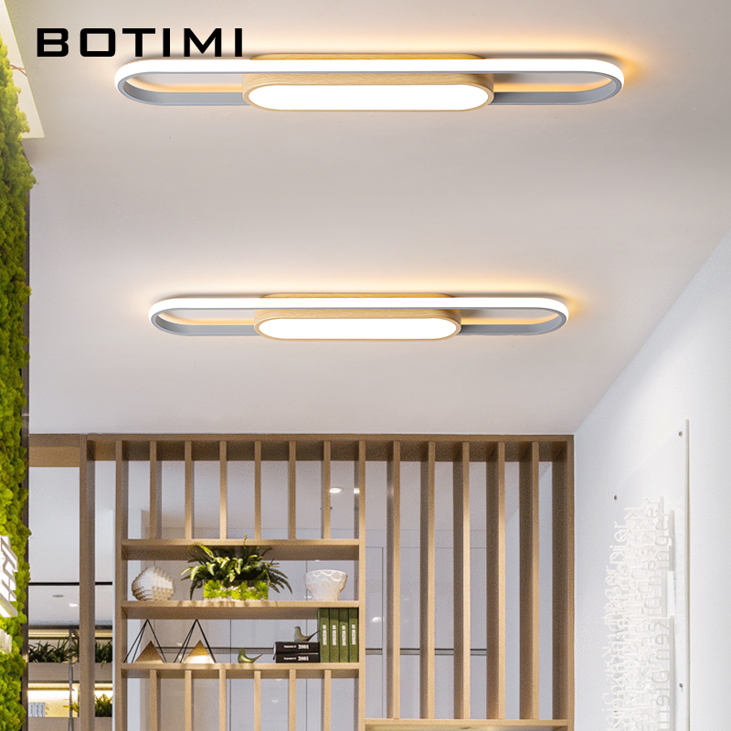 BOTIMI Modern Metal Ceiling Lights Surface Mounted Corridor Bedroom Kitchen Office Lamp Nordic Living room Ceiling Light