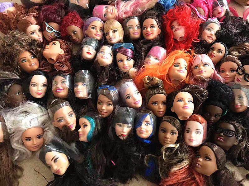 Оптовая продажа, 30 шт./лот, импортные товары, оригинал 1/6, куклы для девочек, головы для Барби, подарок на день рождения, много стилей, женская кукла, сделай сам, голова, игрушка