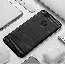 Capa de silicone Para O Caso Capa para Mi Xiaomi Mi A2 A2 Lite Caso Macio Caso de Telefone De Fibra De Carbono Em para xiaomi Redmi Mi UM 2 lite 6 Pro