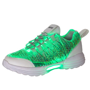Image 4 - Size 35 46 Childrens Lighted Shoes Boys Girls Glowing LED Sneakers for Kids Mens Womens with Luminous Sole fiber optic shoes