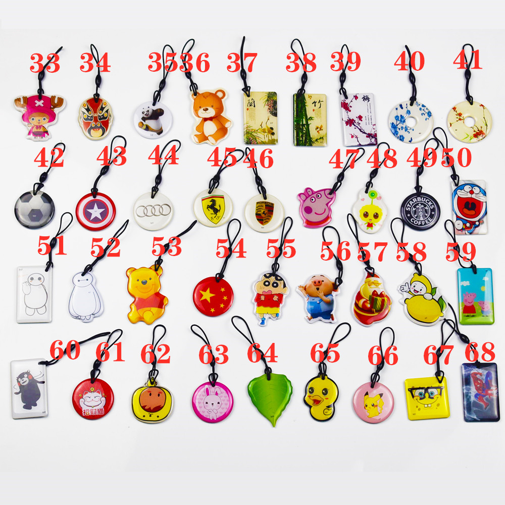 5pcs/lot UID Changeable Card Small Pendant NFC Keychain 13.56MHz ISO14443A Block 0 Writable 1K S50