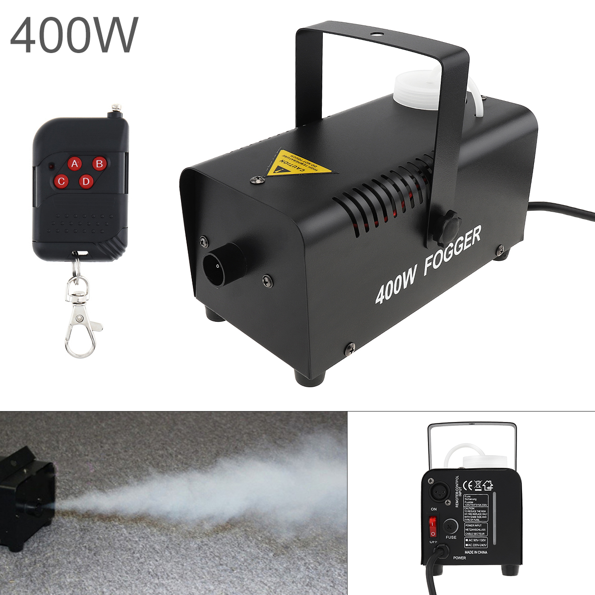 Fog Machine Wire Control 400W Hood Professional Fog Machine Ejector With Remote Control For Wedding Stage Bar KTV Xmas Party
