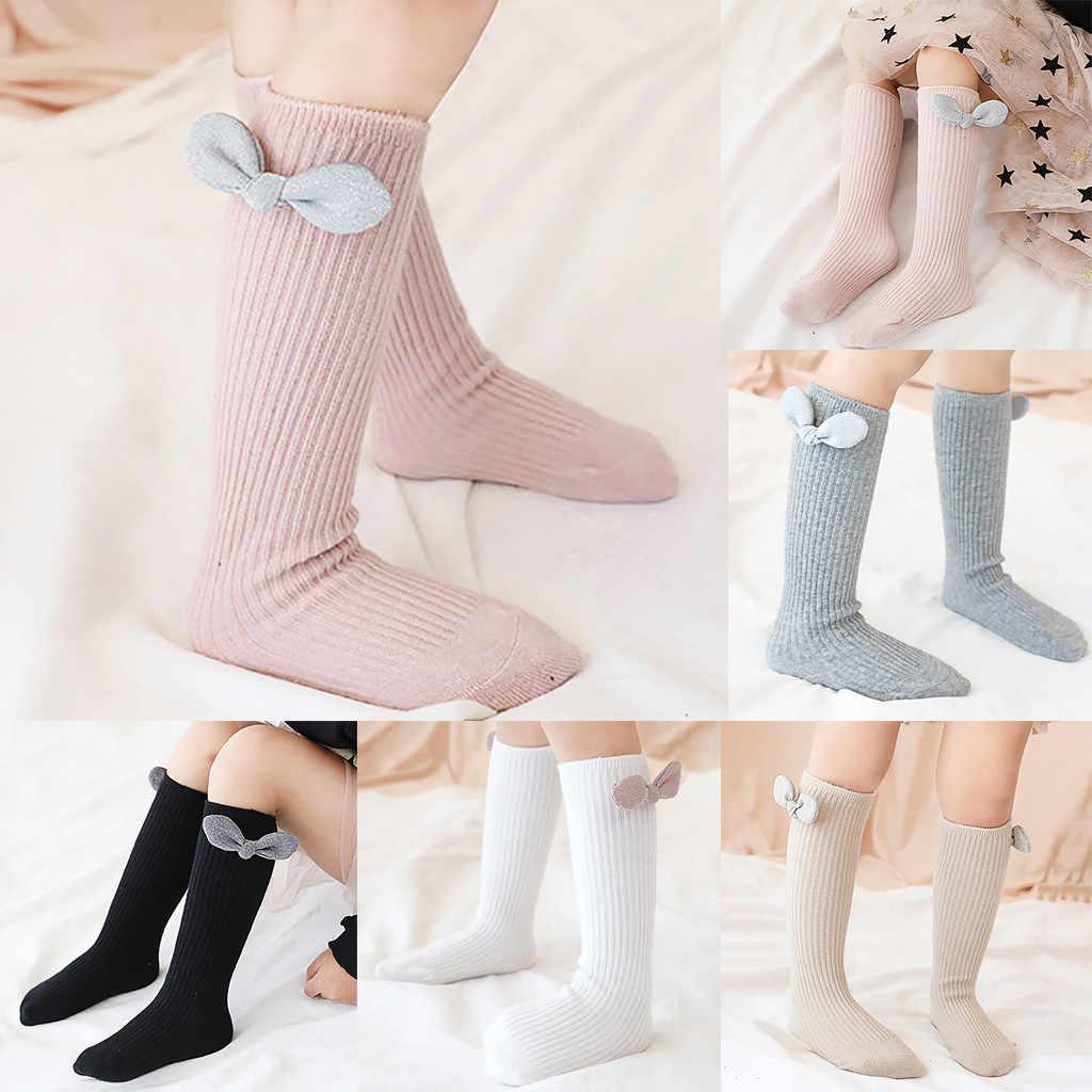 Pasgeboren baby meisjes sokken Zomer Lente Mesh sokken kids bow knie hoge lange buis sok sokken princess baby baby sokken calcetines