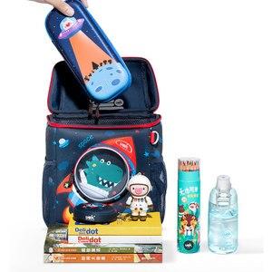 Image 4 - 3D Space Dinosaur Rabbit School Backpack for 2 6 Years Old Waterproof Cartoon Boys Schoolbag Children Gift Mochila Infantil (S)