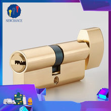 Size 70mm Cylinder Door Hardware Security Locks Brass Cylinder Single Open Same Key Interlocking Bathroom lock bedroom lock(China)
