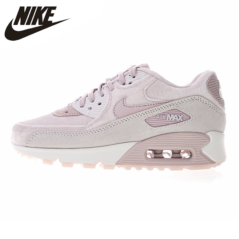 chaussures de sport ee413 ecf86 € 41.43 73% de réduction|Nike Air Max 90 hiver PRM chaussures de course  pour femmes, jaune, chaud Absorption des chocs résistance aux chocs ...