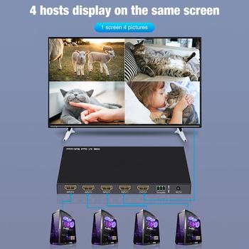4x1 Quad conmutador de vídeo Multi-Video mezclador interruptor HDMI con Control remoto 4 en 1 procesador de vídeo con 5 modos de visualización