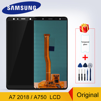 A750F LCD Original Super AMOLED For Samsung Galaxy A7 2018 A750 SM A750F A750G LCD Display Touch Screen Digitizer Replacement