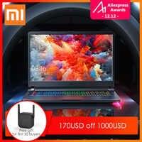 Oryginalny Xiao mi mi mi Ga ng Laptop 2019 Windows 10 intel core i7-9750 H 16GB RAM 512GB SSD HD mi Notebook type-c Bluetooth