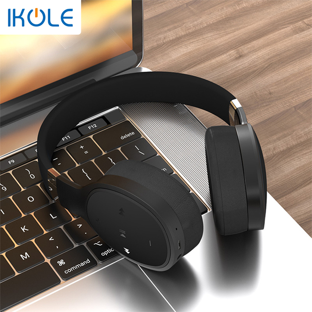 IKOLE Bluetooth 5.0 Wireless Over the Ear Headset Deep Bass Hi-Fi Stereo Sound with rubber, Comfortable to Wearing Headphone 2