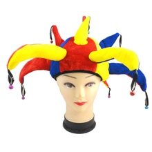 Halloween Costume Fancy Dress Celebration Clown Hat Nose Props Adult Ball Cosplay Accessories Y