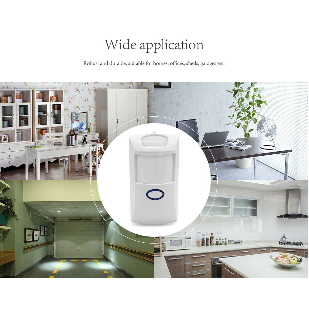 433MHZ Remote Control Intelligent System Wireless Detector Alarm Anti Pet Security Immune Infrared Home Outdoor Long Distance