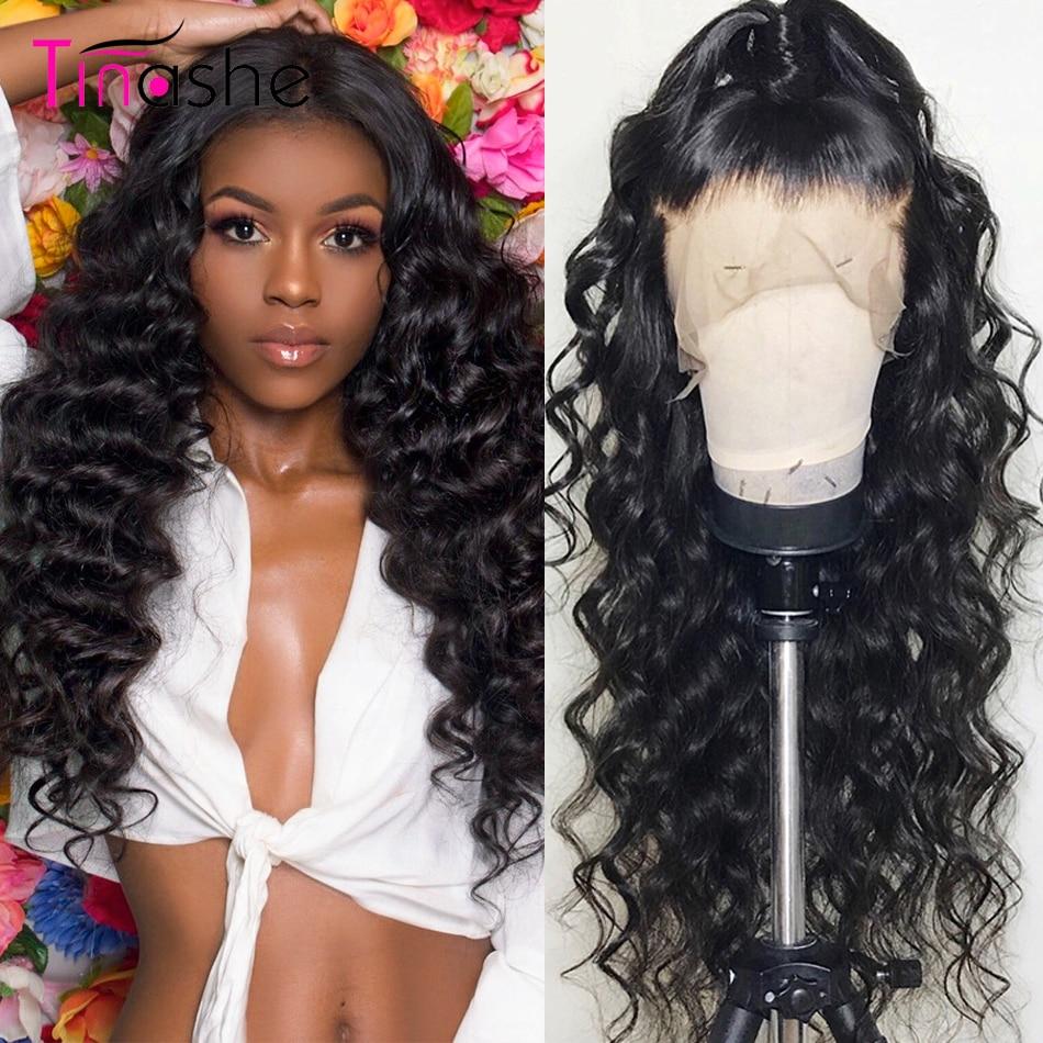 Перуанские волосы курчавые человеческие волосы парик свободная глубокая волна Синтетические волосы на кружеве парик 360 Синтетические воло...