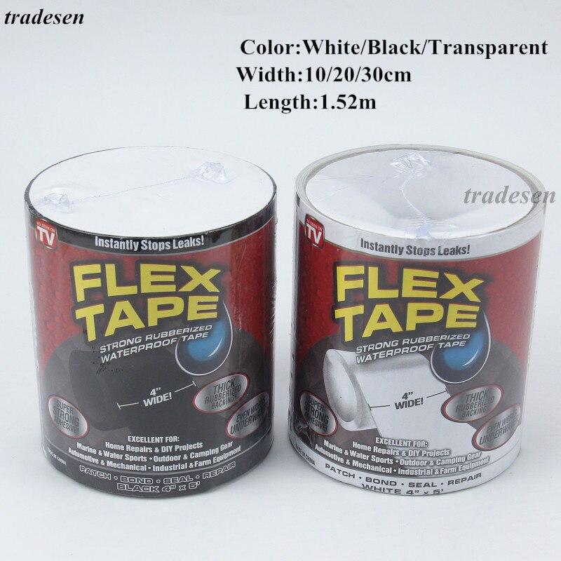 1,52 M супер сильные волокна Водонепроницаемый лента единый утечки Уплотнение лента для ремонта Производительность себя ленты Fiberfix клейкая л...
